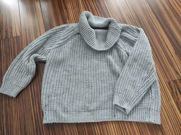 Sweter ciepły golf rozmiar M