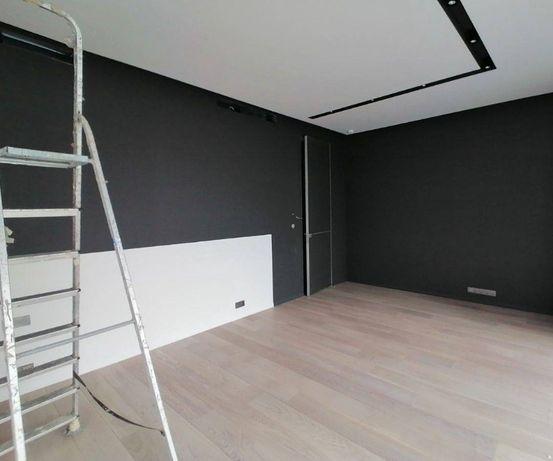 Шпаклевка и покраска стен и потолков,укладка ламината