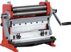 Máquina trabalhar chapa 3 em 1 - Calandra + Quinadeira + Guilhotina