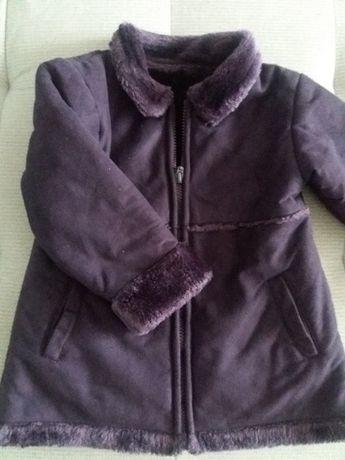 płaszczyk FIOLETOWY, dla dziewczynki, a'la kożuszek 92 98