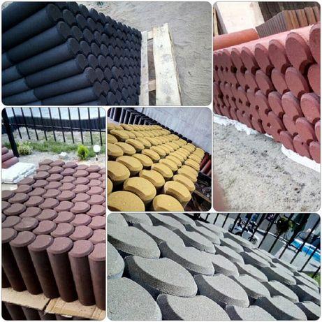 Nowość! Tanie Obrzeża kostka palisady betonowe barwione w masie.