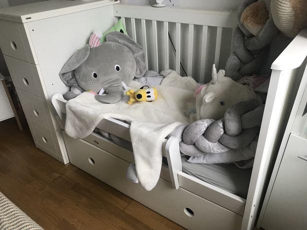 BELLAMY Białe łóżeczko dziecięce z szufladą BELLAMY Paso Doble, 60x120