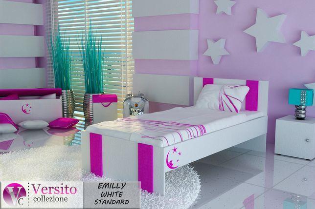 Śliczne łóżko dla dziewczynki z materacem 10 cm,dziecięce tapicerowane