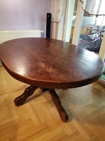 Stół dębowy z krzesłami cena do negocjacji