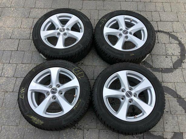 R16 5×112 Borbet,VW,Audi,Skoda ,205/55R16 Continental Як Новий Зимовий