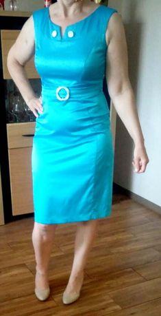 Błękitna / niebieska sukienka rozmiar 40