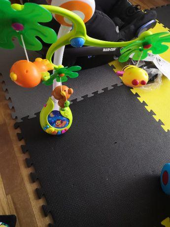 Używana Karuzela dziecięca DESZCZOWY LAS do łóżeczka elektroniczna