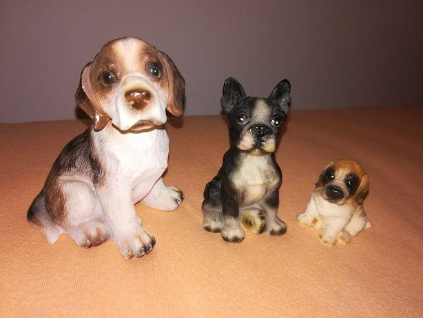 Figurki pieski beagle, buldog francuski
