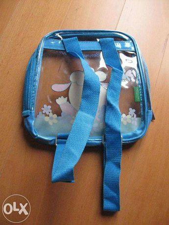 Mochila transparente para criança (benetton)