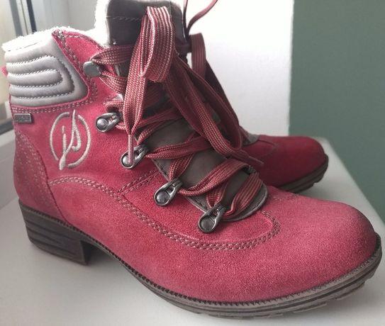 Замшевые ботинки 37р 24см Jana tex