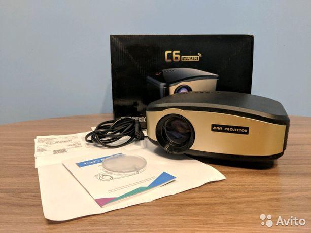 портативный Projector LED. Экран | C6 проектор | с динамиком и пультом