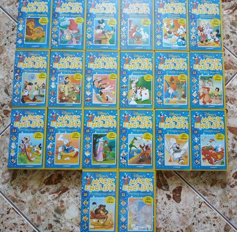 Magic Inglish kasety VHS do nauki języka angielskiego dla dzieci