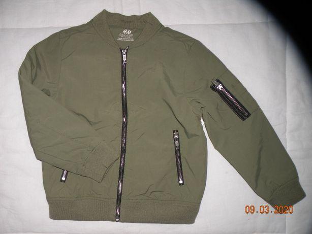 H&M kurtka bomberka khaki r.122/116