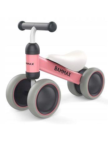 Bammax Różowy rowerek biegowy
