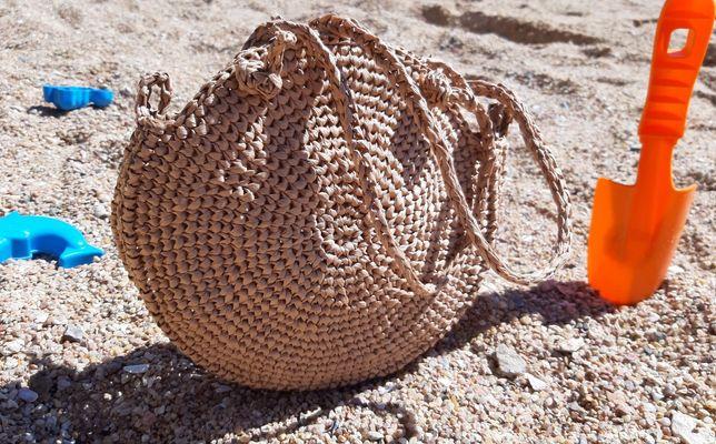 Вязаная сумка из рафии на заказ ручная работа