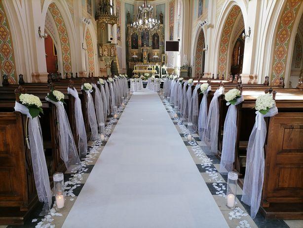 wystrój kościoła, dekoracja ślubna