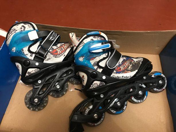 Ролики детские hot wheels 28-32