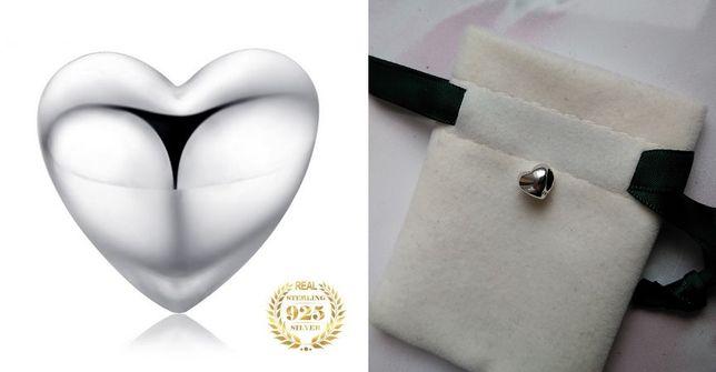Zawieszka Charms Beads drobne gładkie SERCE Srebro 925 do Pandora