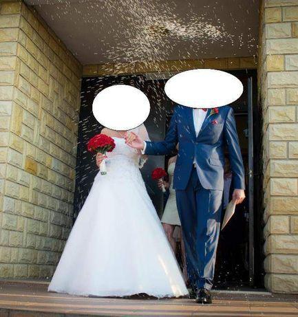 Suknia Ślubna plus welon