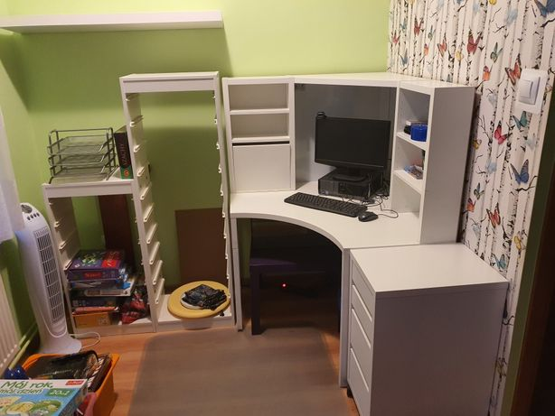 Zestaw narożny biurko dziecięce