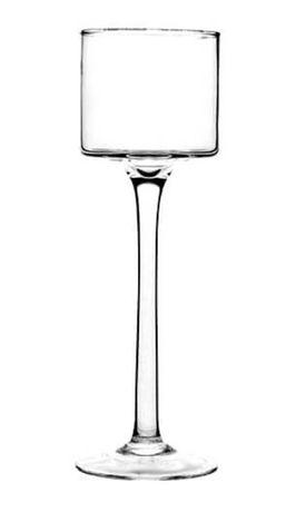 20cm Świecznik kielich szklany na stopce nóżce