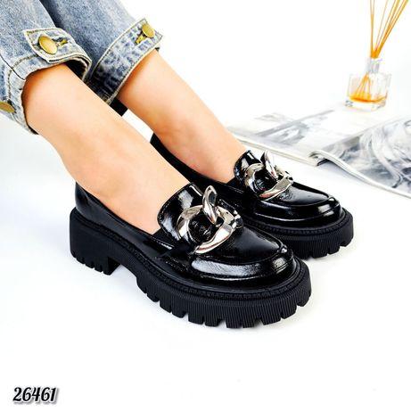 Лакированные туфли нат.кожа