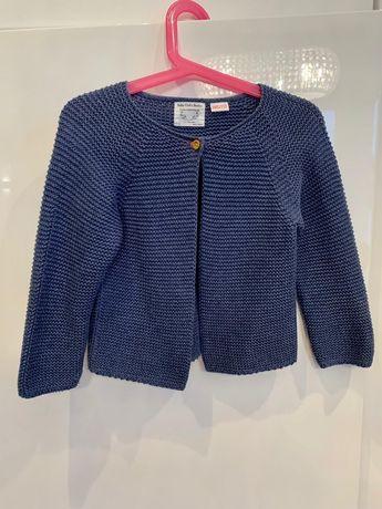 Piękny sweter Zara dla dziewczynki granatowy
