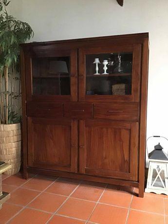 aparador, armario, louceiro, prateleiras,  vitrine, rustico