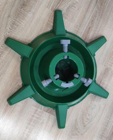 Stojak na choinkę plastikowy zielony stan bardzo dobry