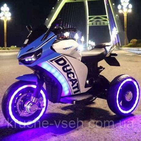 Дитячий електромобіль Мотоцикл M4053, свет, mp3, детский электромобиль