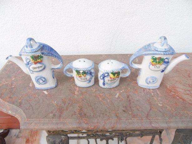 Porta especiarias porcelana
