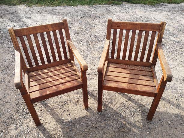 Fotele ogrodowe drewniane