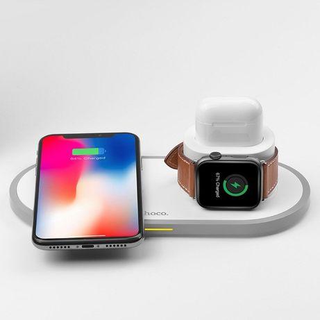 Ładowarka indukcyjna 3w1 Hoco CW21 do Apple iPhone iWatch