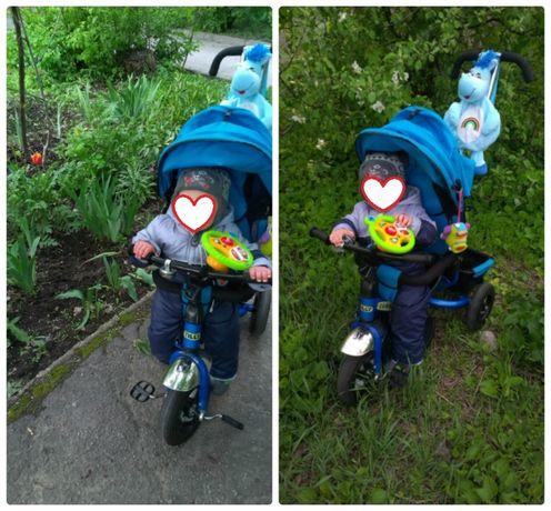Трехколесный велосипед Tilly Trike T-364 Синий+подарки))