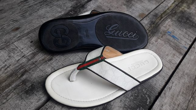 Gucci italy оригинал Италия босоножки шлепанцы 27см сандали б/у лето