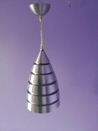 Lampa aluminiowa wisząca nad stół do jadalni średnica 18cm