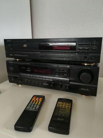 Amplituner i odtwarzacz cd denon z pilotem