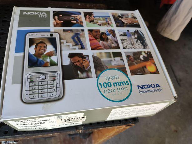 Nokia N73 caixa e acessórios