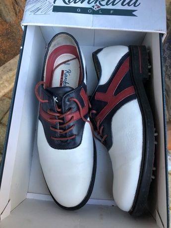 Sapatos Golf Kankura tamanho 42. Nunca usados)
