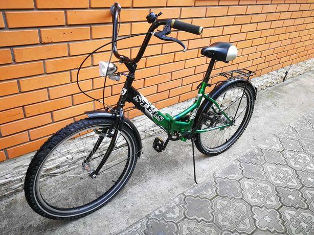 велосипед со складывающейся рамой STELS
