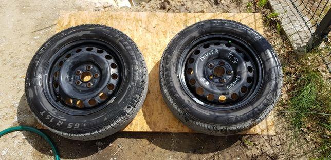 Koła zimowe opony Semperit 185/65R15 5x100 Toyota