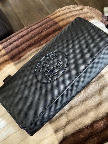 Новый оригинальный кошелёк Lacoste