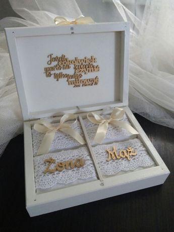 Pudełko, szkatułka na obrączki, ślub, ślubne
