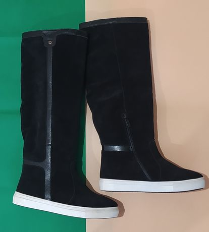 "Кожаные женские сапоги ботинки""Олимп"" 39;40"
