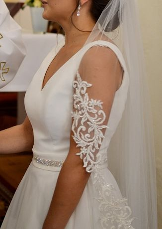 Suknia ślubna, salon La Perle