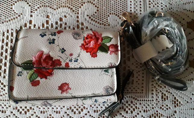 Torebka Parfois mała haft róże nowa