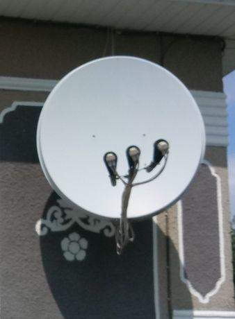Супутникова антена. Комплект на 2 телевізори