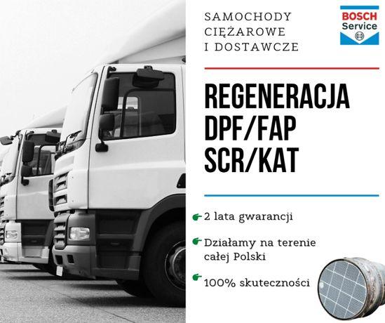 Regeneracja DPF SCANIA R 410, 450, 500 Czyszczenie FAP DPF SCR KAT