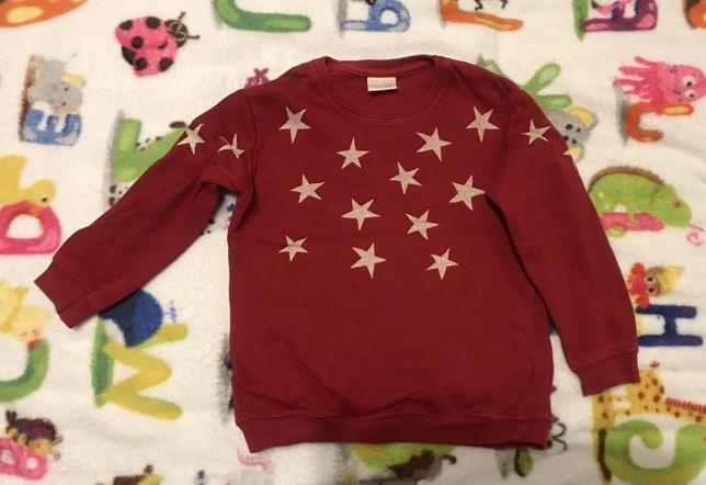 Bluza świąteczna gwiazdki ZARA Girls 104 dziewczynka jak nowa brokat