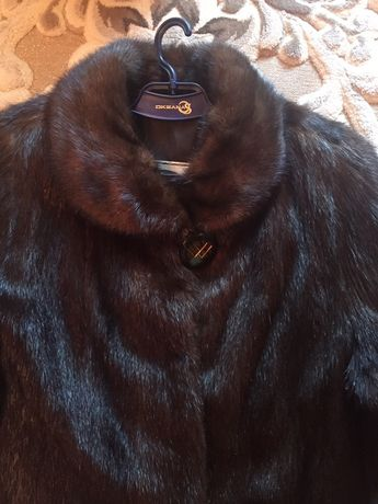 Шуба сурковая с норковым воротником и пальто шерсть Ламы